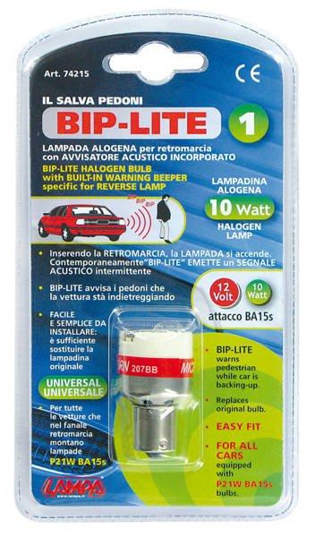 Baklyspære med alarm 12 volt 10 wat BIP-LITE P21W BA15 bip funktion