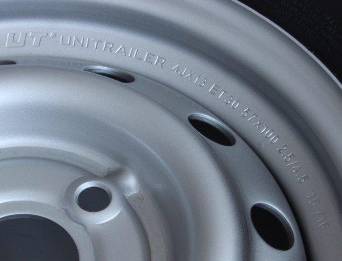 Komplet hjul 155/70 R13 til trailer Unitrailer