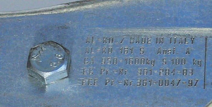Påløbsbremse AL-KO 1600 kg KW70 161S AK161
