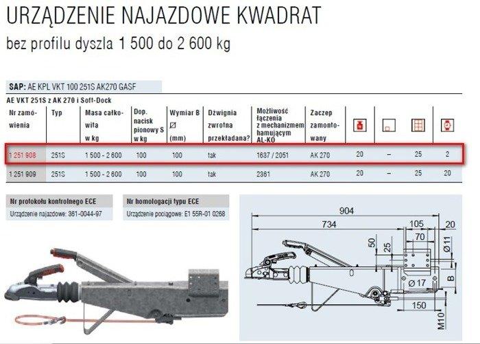 Påløbsbremse AL-KO 2600kg KW100 251S AK270